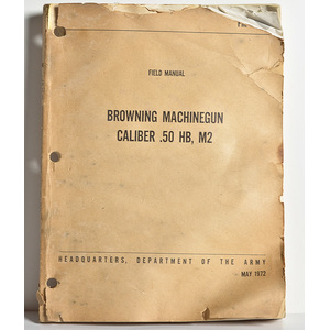 US Vietnam War FM Browning Machine Gun Manual