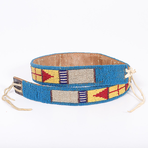 Northern Plains Beaded Hide Belt