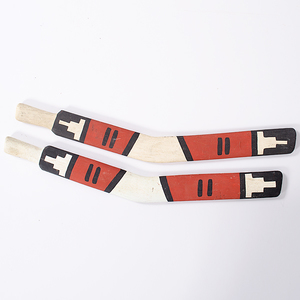 Hopi Painted Wooden Rabbit Sticks From the Collection of Dr. Kent and Karen Vickery, Colorado