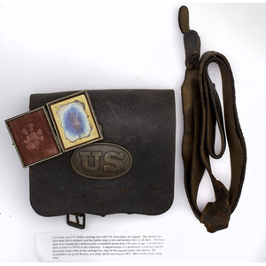 Civil War, U.S. Leather Cartridge Box, Plus