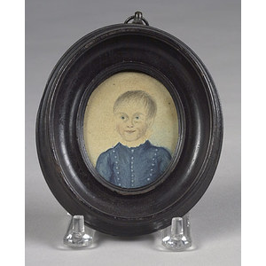 Miniature Portrait of a Young Child,