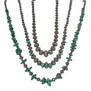 Navajo Silver Bead Necklaces
