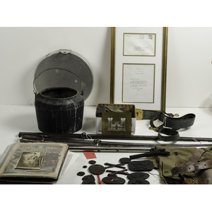 Lot of Miscellaneous Items Including Photographs and Various Accoutrements
