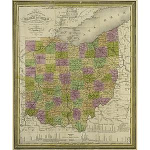 1831 Mitchell Map of Ohio,