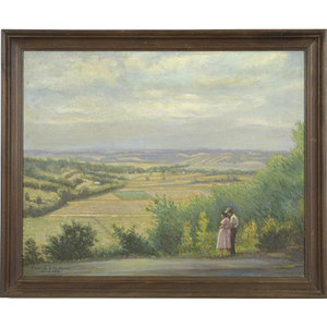 Signed Miami Valley Landscape,