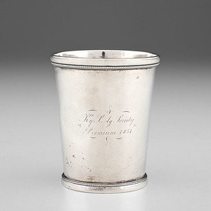 Kentucky Agricultural Society Coin Silver Julep Cup by J. Kitts