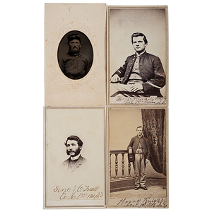 1st Maine Sharpshooters, Three Identified CDVs, Plus