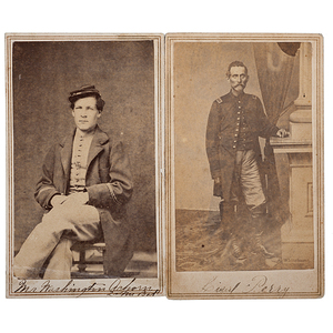 2nd Maine Battery Soldiers, Two Identified CDVs