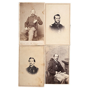 3rd Maine Officers, Four CDVs