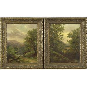 Fine Pair of 19th-Century Landscapes,