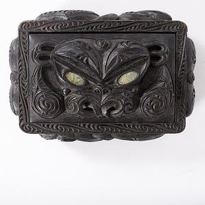 Maori Carved Wooden Treasure Box