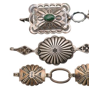 Navajo Silver Link Belts/Necklaces