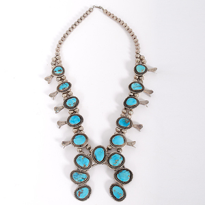 Navajo Squash Blossom with Turquoise