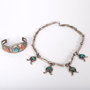 Navajo Tufa-Cast Jewelry with Turquoise
