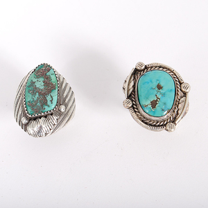 Navajo and Zini Silver and Turquoise Rings, Signed
