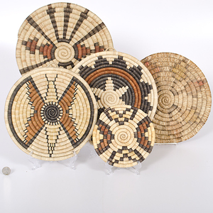 Hopi Second Mesa Basketry Trays Collected by John S. Boyden, Sr. (1906-1980)