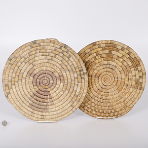 Hopi Second Mesa Figural Basketry Trays Collected by John S. Boyden, Sr. (1906-1980)
