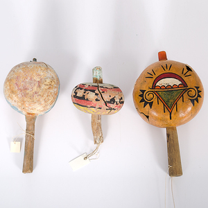 Painted Gourd Rattles Collected by John S. Boyden, Sr. (1906-1980)