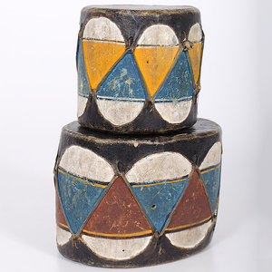 Cochiti Painted Drums Collected by John S. Boyden, Sr. (1906-1980)