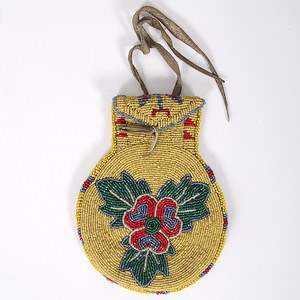 Ute Beaded Hide Pouch Collected by John S. Boyden, Sr. (1906-1980)