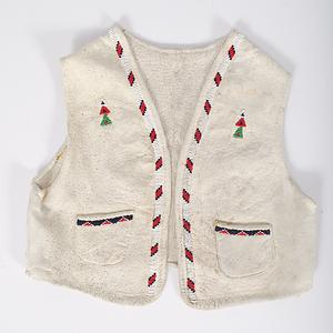 Ute Child's Beaded Hide Vest Collected by John S. Boyden, Sr. (1906-1980)