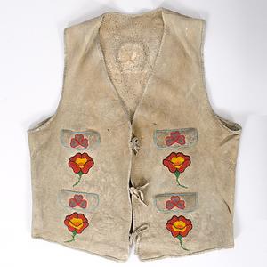 Bannock Beaded Hide Vest Collected by John S. Boyden, Sr. (1906-1980)