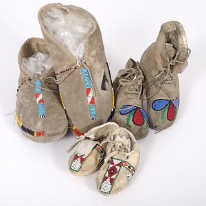Bannock Child and Infant Moccasins Collected by John S. Boyden, Sr. (1906-1980)