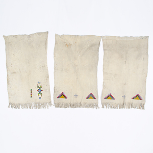 Collection of Apache Beaded Hide Dress Panels Collected by John S. Boyden, Sr. (1906-1980)