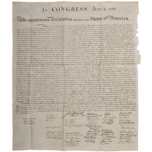 Declaration of Independence, Peter Force Copy