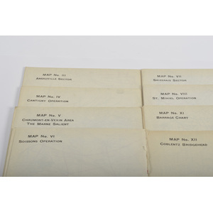 WWI Field Maps, Lot of Twelve (12)