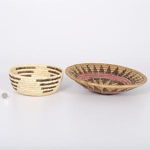 Navajo Wedding Basket and Tohono O'odham Basket Collected by John S. Boyden, Sr. (1906-1980)