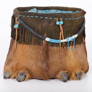Elk Hoof Basket Collected by John S. Boyden, Sr. (1906-1980)