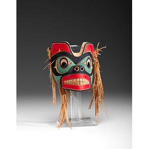 Tony Gulbrandsen (Tsimshian, 21st Century) Carved Wolf Mask