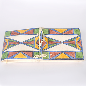 Southern Ute Debra K. Box Painted Parfleche Envelope From the Collection of Dr. Kent and Karen Vickery, Colorado