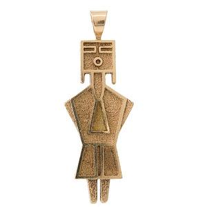 Al Nez (b. 1959) Navajo 14K Gold Pendant