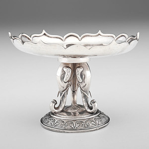 Chinese Export Silver Compote