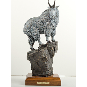 High in the Northwest Mountain Goat Bronze by Rick Taylor