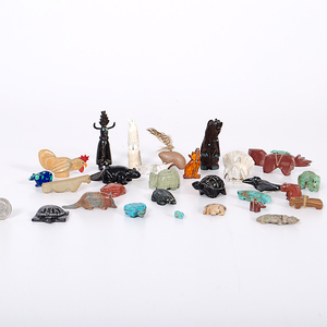 A Large Collection of Zuni Fetishes From the Collection of Dr. Kent and Karen Vickery, Colorado