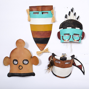 Hopi Leather Masks by Sakastewa From the Collection of Dr. Kent and Karen Vickery, Colorado