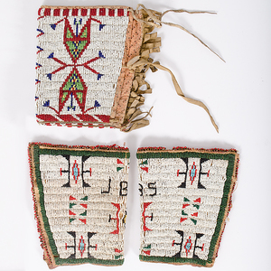 Sioux Beaded Hide Cuffs From the Collection of Dr. Kent and Karen Vickery, Colorado