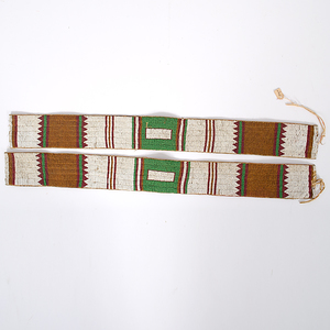 Ute Beaded Hide Legging Strips From the Collection of Dr. Kent and Karen Vickery, Colorado