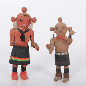 Hopi Koyemsi Mudheads From the Collection of Dr. Kent and Karen Vickery, Colorado
