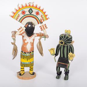 Hopi Squash Katsina and Apache Gan Dancer From the Collection of Dr. Kent and Karen Vickery, Colorado
