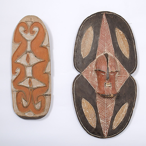 Asmat Carved Wall Hanging and Sepik River Figural Shield From the Collection of Dr. Kent and Karen Vickery, Colorado