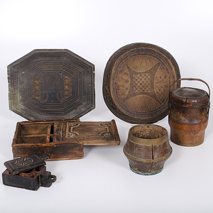 Collection of Wooden Containers From the Collection of Dr. Kent and Karen Vickery, Colorado