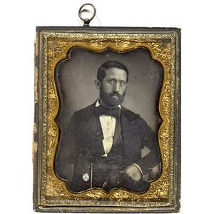 Half Plate Daguerreotype of Sun-Darkened Gentleman,