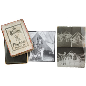 Spanish American War Glass Plate Negatives in Original Box