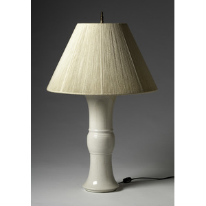 Chinese Incised Blanc de Chine Lamp