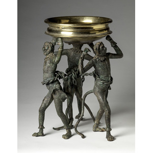 Continental Bronze Center Bowl and Stand