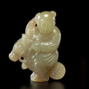 Chinese White Jade Beast Carving